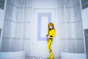 Mori Yuki in the spaceship  room by doller98-TAKA