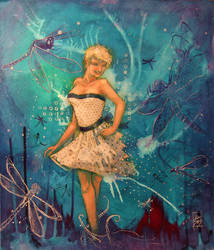 Pin Up Dragonfly Girl by zyphryus