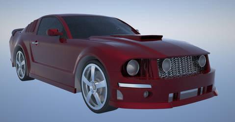 Mustang Render WIP by mcarthur17