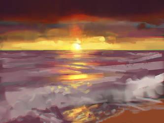 sdj: sunset by llRobinll