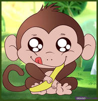 How to Draw a Baby Monkey by Anglerfish5