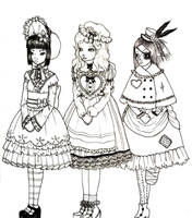 My Three Dolls by chocolatehomicide