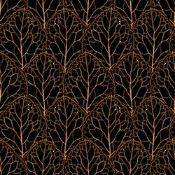 Leaf Pattern Gold n Black by Yagellonica