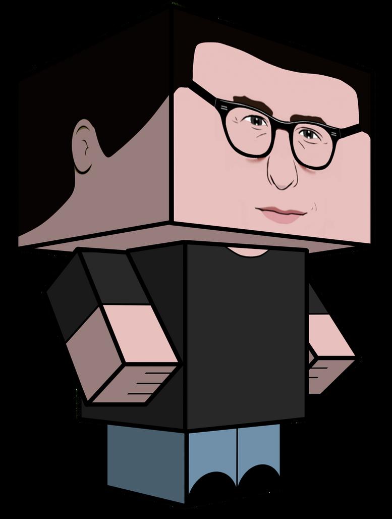 J.J. Abrams Cubeecraft by JagaMen