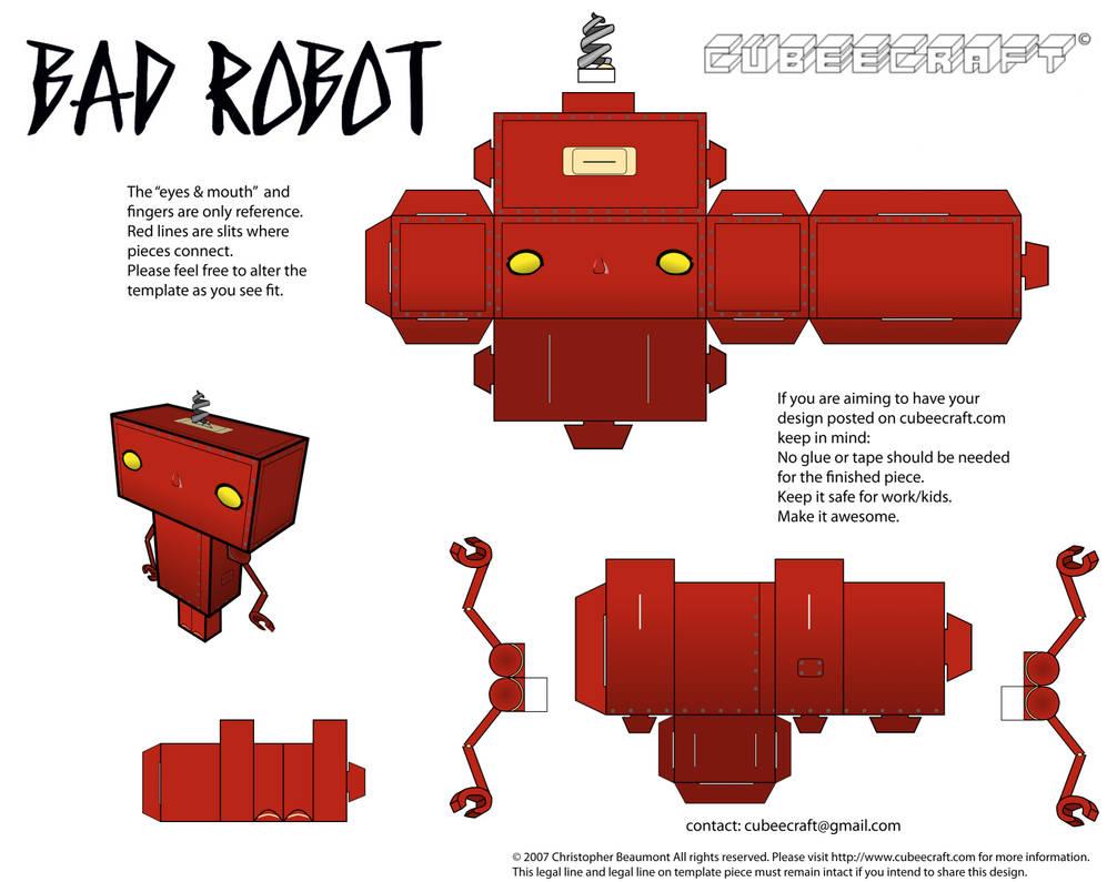 Bad Robot Cubeecraft by JagaMen