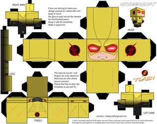 Reverse Flash Cubeecraft by JagaMen