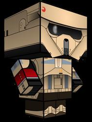Stormtrooper: Rogue One Cubeecraft by JagaMen