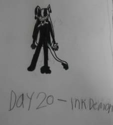 Monstober - Day 20 Ink Demon by InfiniteComet310