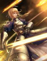 saber vs archer by Limdog