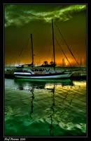 Sunset Boat by amassaf