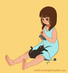 Me-knitting by ambisweetiepie