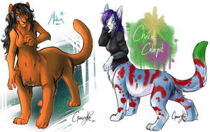: Chakats : Sketch Commissions by GaruryKai