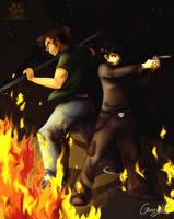: Fighting brothers : by GaruryKai