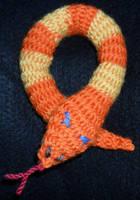 Jormungandr nalbound teddy by Iglybo