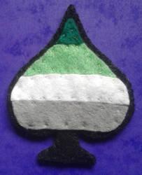 Aromantic pride Badge by Iglybo