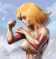 Speedpaint 1- Female Titan (Attack on Titan) by SamDelaTorre