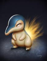 Pokemon- Cyndaquil by SamDelaTorre