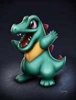 Pokemon- Totodile by SamDelaTorre