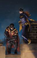 Red Robin and Batgirl by SamDelaTorre