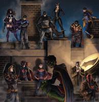 Batman Family by SamDelaTorre