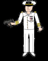 Navy Commander in Dress Whites by EyeInTheSky118