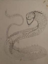 Giant Skeletal Snake OF DOOM by JerichoVanburen