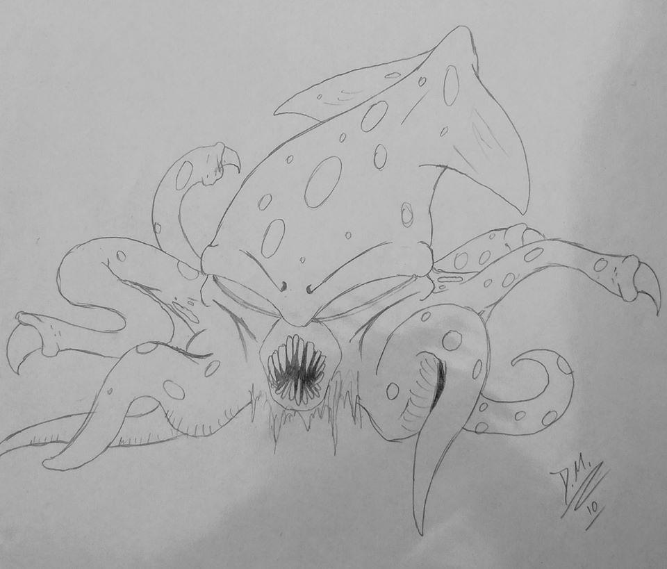 Less-Friendly Squid Monster from Mystic Quest by JerichoVanburen
