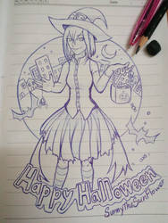 Halloween sketch by SunnyTheSunFlower