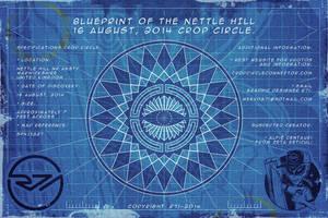 Blueprint Crop Circle Nettle Hill 16 August, 2014. by R71