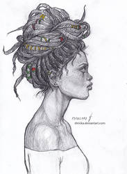 African Woman by Shricka