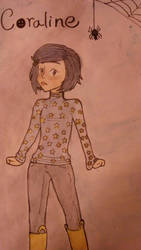Coraline water color by feathered-flower