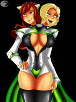 Adamina And Skye (Captains Outfit) by Dalley-Le-Alpha