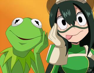 Kermit and Tsuyu by Dalley-Le-Alpha