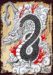 Japanese Dragon by tenshiflyers