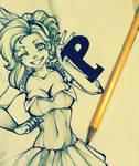 Pinkie Pie - Sketch by AlaishaTheWolf