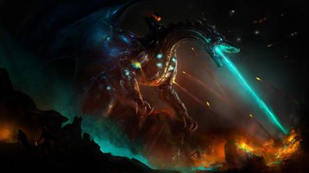 Cyborg dragon by AyarnE
