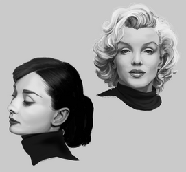 Monroe, Hepburn by Hexterian