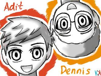 Adit and Dennis by karuirizuka