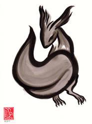 Sumi-e squirrel I by arsnoctu