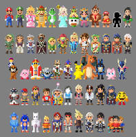 Super Smash Bros 4 8 Bit by LustriousCharming
