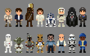 Star Wars Empire Strikes Back Characters 8 bit by LustriousCharming