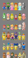 Mario Kart 8 Characters 8 bit by LustriousCharming