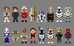 Star Wars The Clone Wars Characters 8 bit by LustriousCharming