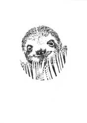 Dotwork Sloth by Umbaca