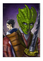 DW - Madame Vastra and Jenny by ScarletMoonbeam