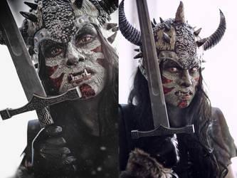 Orc make-up by elenasamko