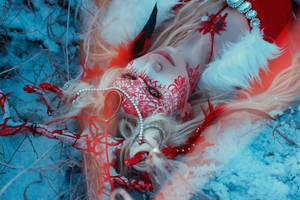 Red lace deer by elenasamko