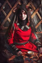 Mongolian shaman by elenasamko