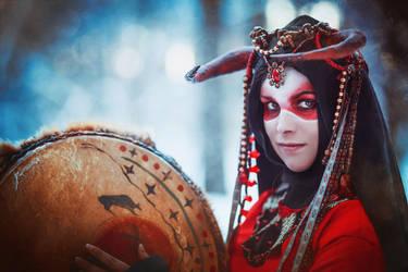 Red shaman by elenasamko