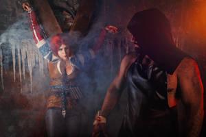 Triss  Merigold torture Cosplay by elenasamko